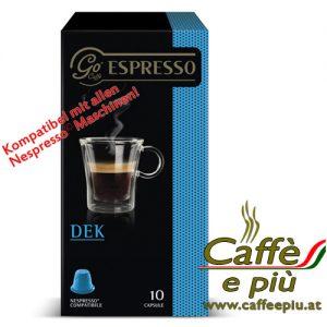 Go Caffè Kapsel DEK entkoffeiniert