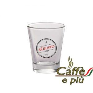 S.GIUSTO Espresso Glas inkl. Glas Untertasse