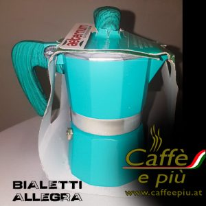 Bialetti 3-Mokka Maschine Sonderedition türkis