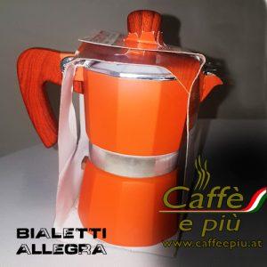 Bialetti 1-Mokka Maschine Sonderedition orange
