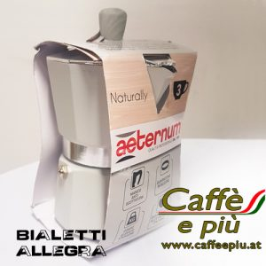 Bialetti 3-Mokka Maschine Sonderedition grau