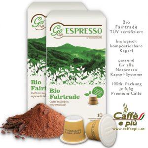 Bio Fairtrade Caffè Kapsel kompostierbar