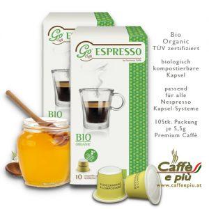 Bio Organic Caffè Kapsel kompostierbar